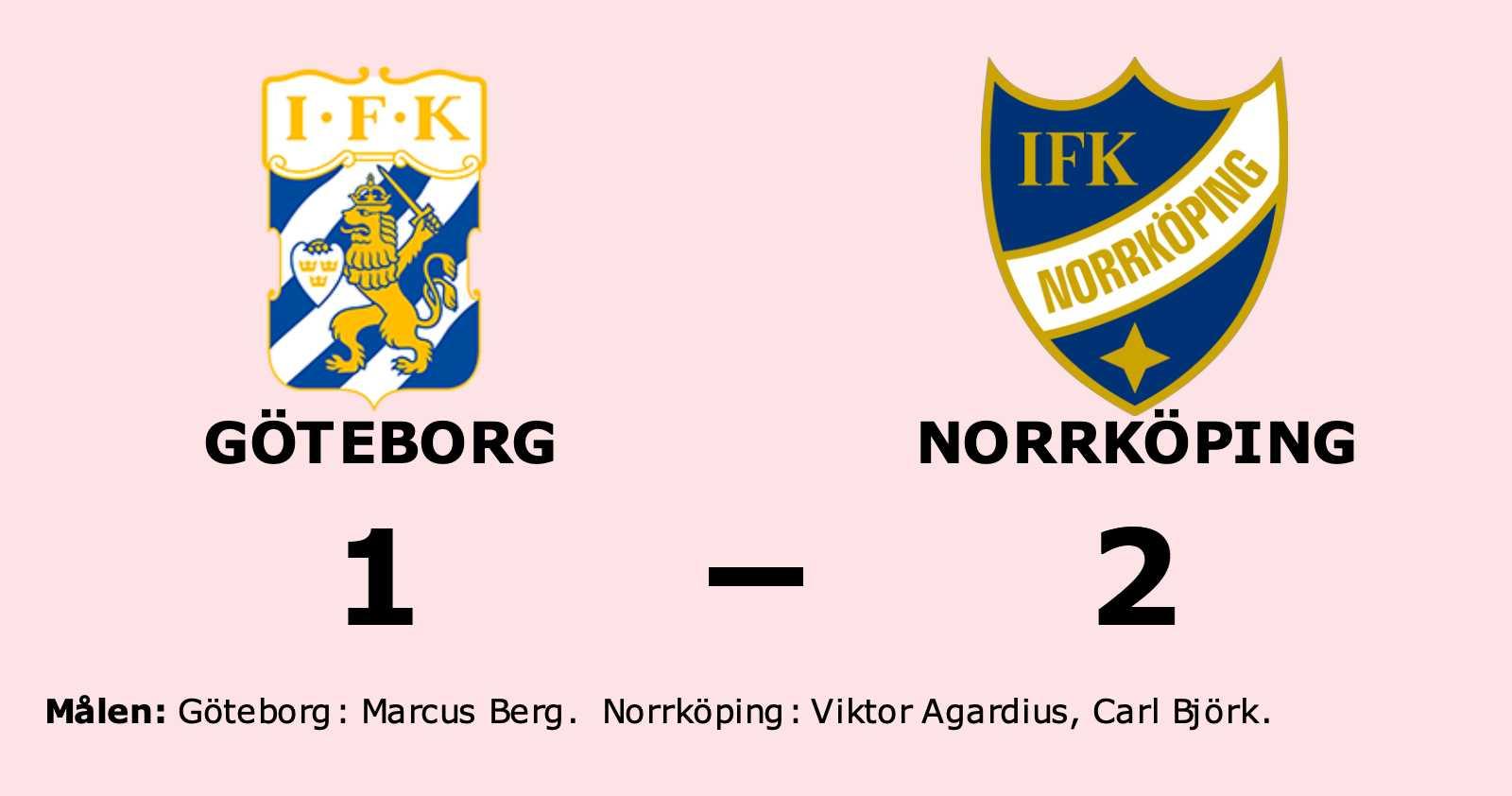 Seger för Norrköping mot Göteborg i spännande match