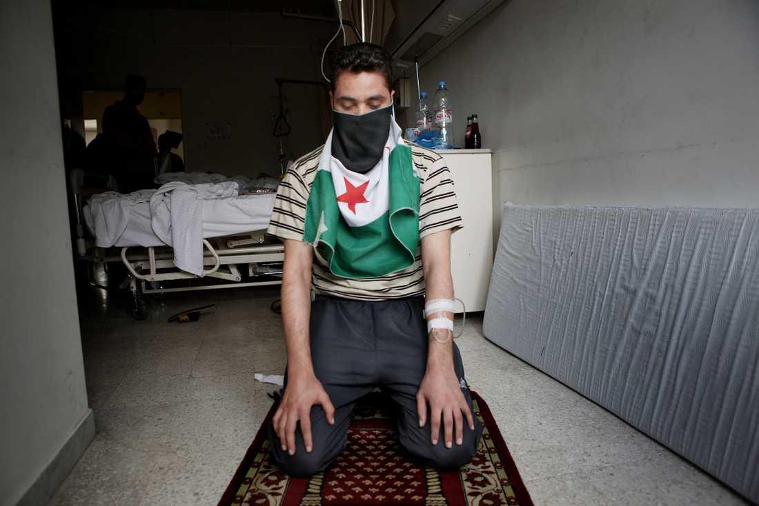 Soldat i Free syrian army.