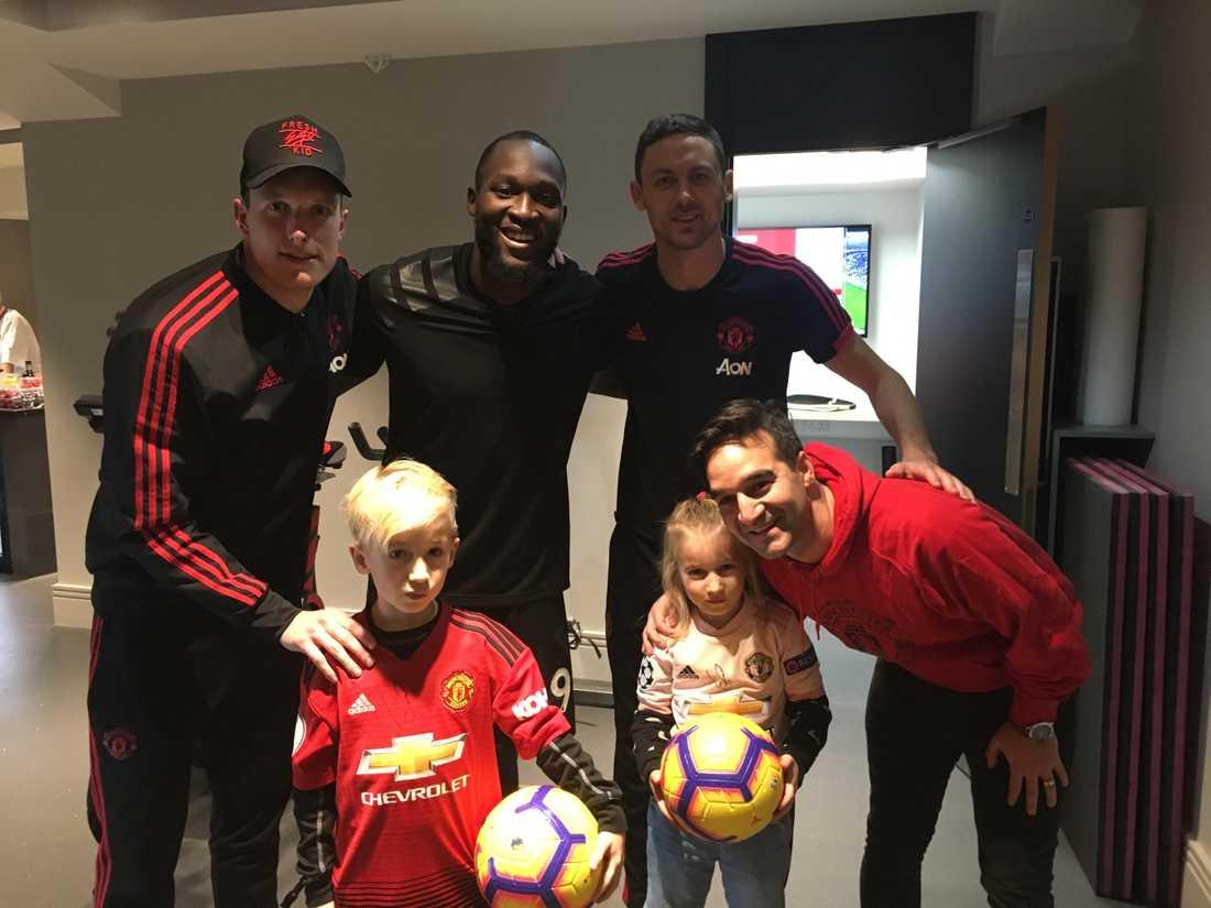Tillsammans med Phil Jones, Romelu Lukaku och Nemanja Matic