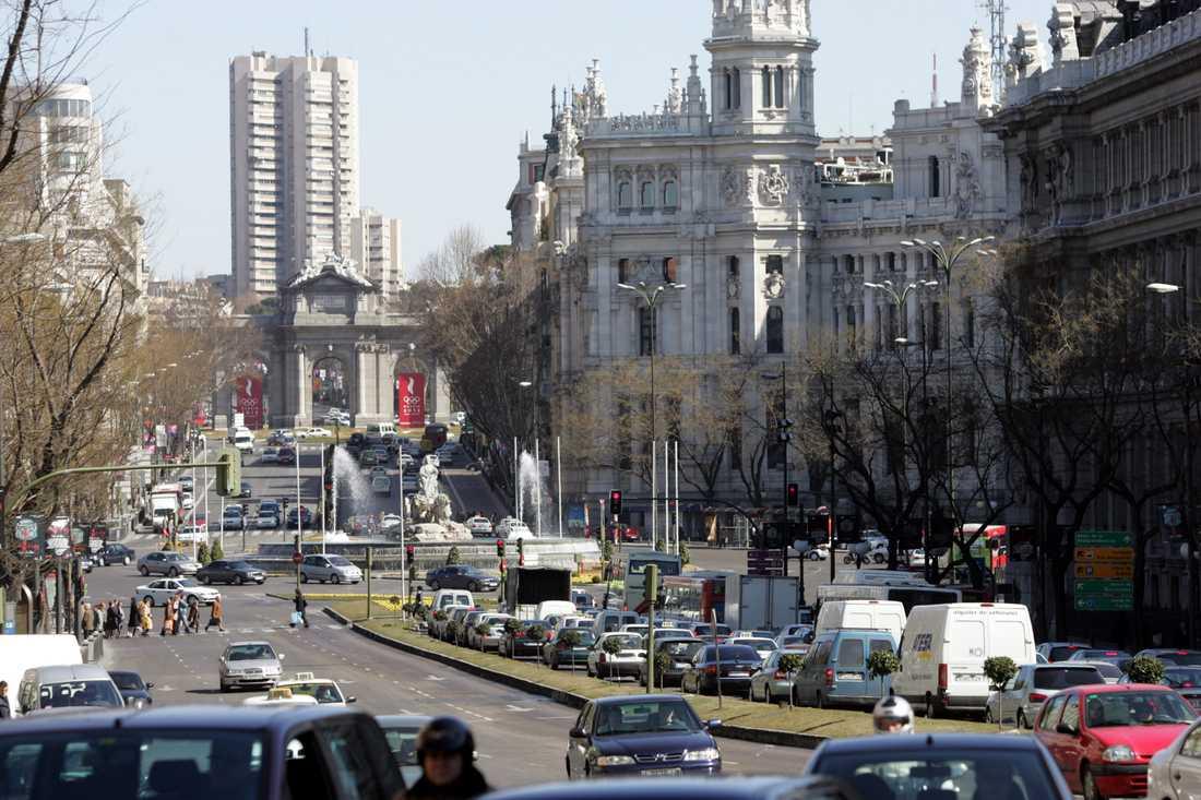 Madrid är en av de städer i Europa där halten av kvävedioxid är som allra högst. Arkivbild.