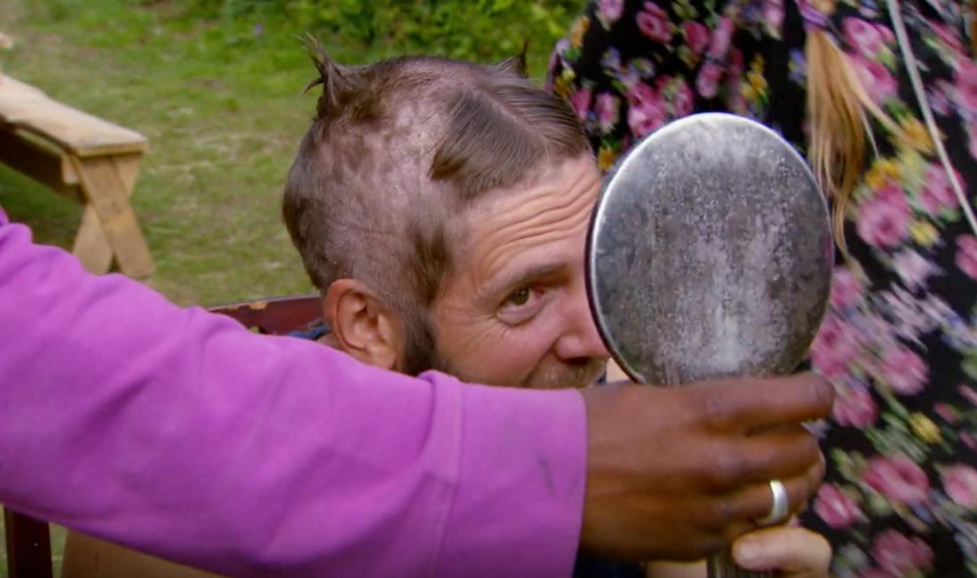 """Robert Lundström i """"Farmen fick en ny frisyr."""