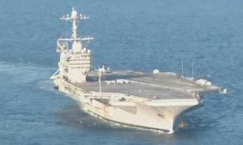 Det amerikanska hangarfartyget USS George Washington är nu på väg från Japan till Sydkorea.
