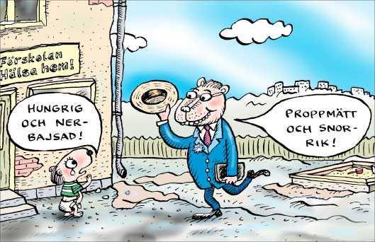 Pengar som satsas ska läggas på barn och omsorg – inte hamna i aktieägares fickor.
