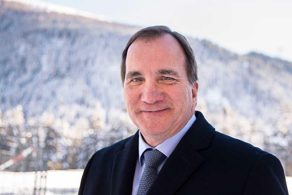 Stefan Löfven i Davos.