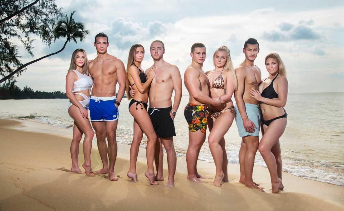 """Fyra par sätter kärleken på prov i nya säsongen av """"Temptation island""""."""