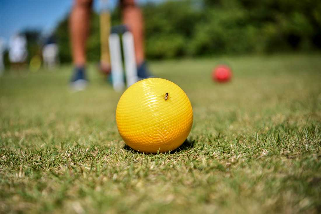 Krocket på Haverdals golfklubb med Haverdals croquet club.