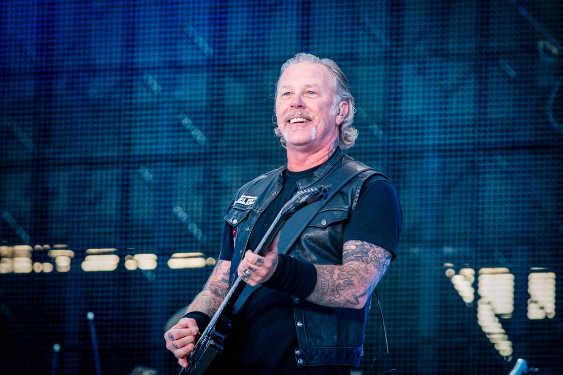Metallicas frontman James Hetfield. Arkivbild.