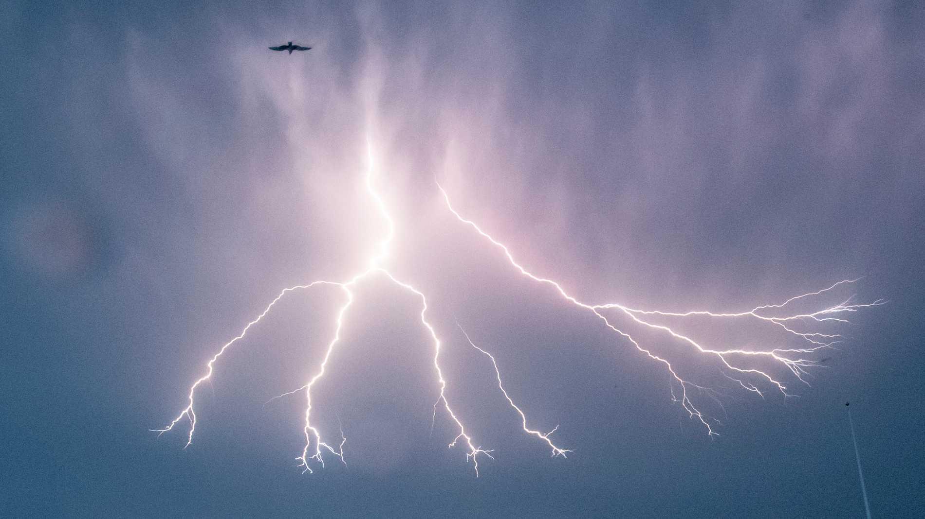 Två män har förts till sjukhus efter ett blixtnedslag i Göteborgs skärgård. Arkivbild.