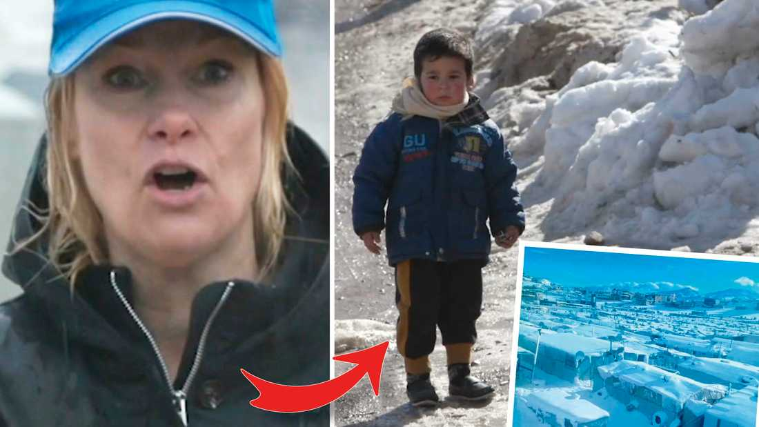 Svenska Karolina Lindholm BIlling är på plats mitt i flyktingkatastrofen.