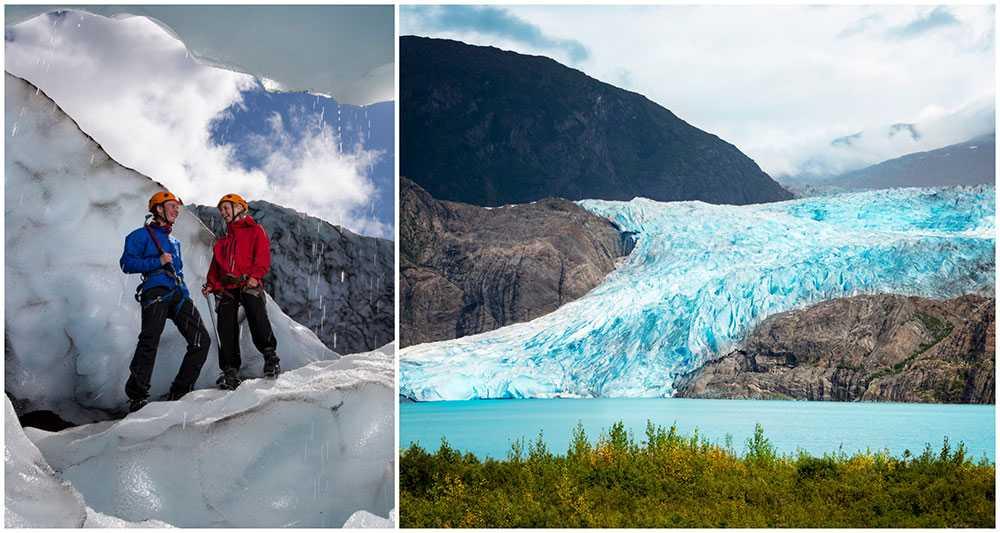 Världens glaciärer hotas av den globala uppvärmningen.