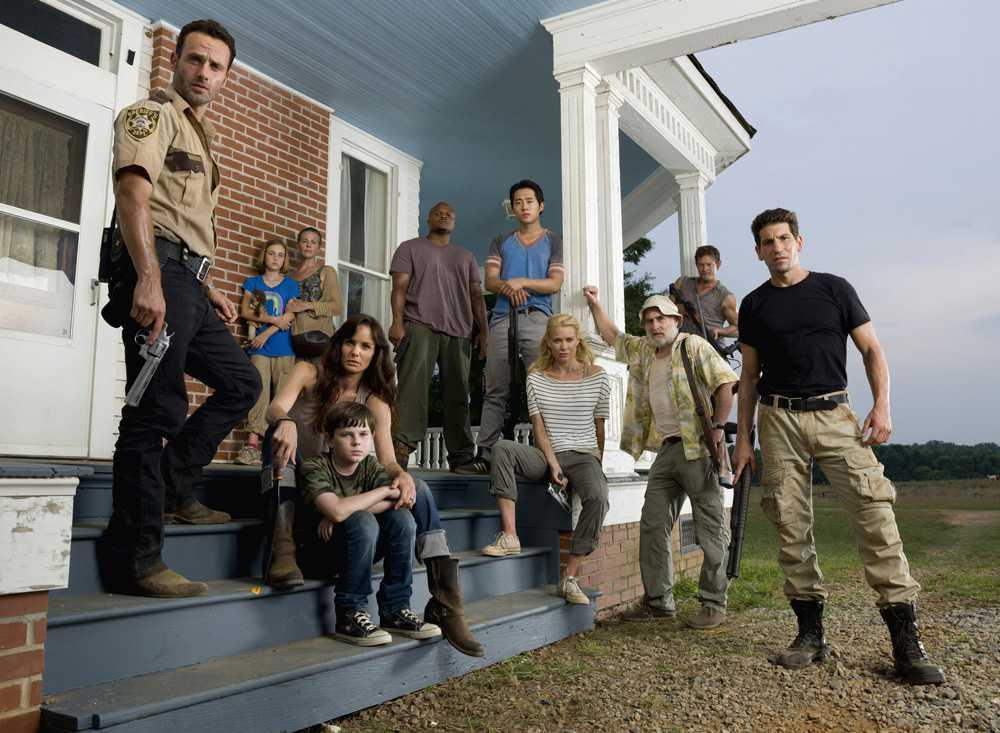 """""""The walking dead""""-skådespelarna får snart fler kollegor i sin zombie-tv-familj. Foto: Pressbild."""