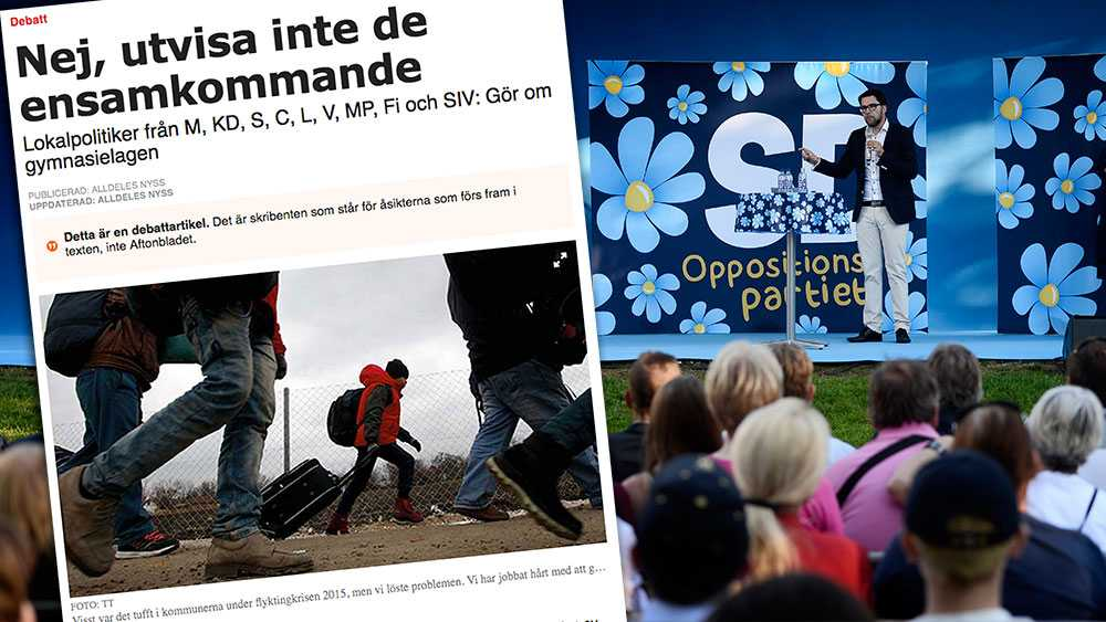 Anser man att Sverige behöver strama åt migrationspolitiken går det inte att förlita sig på de andra partierna. Då finns det bara ett parti att välja. Det partiet är Sverigedemokraterna, skriver 13 SD-politiker i en replik.