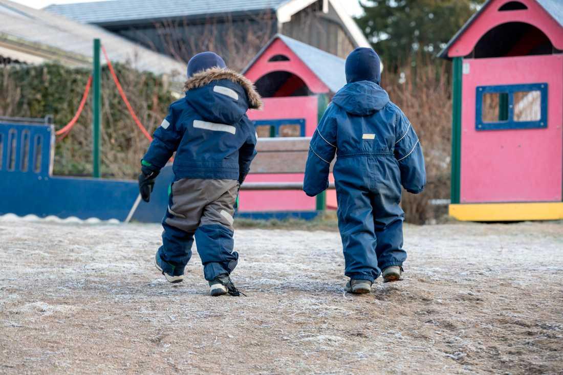 Nya rekommendationer för barn i förskola och grundskola läggs fram i dag. Arkivbild.
