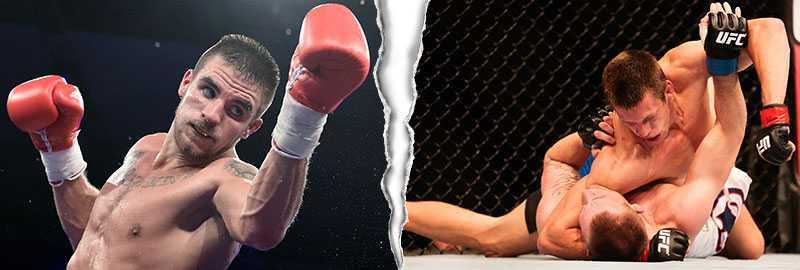"""Erik Skoglund, till vänster, och Magnus """"Jycken"""" Cedenblad till höger, är inte överens om MMA."""