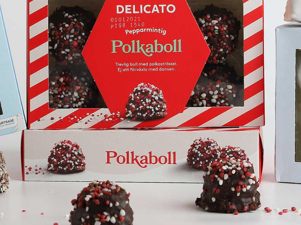 Polkabollen, årets julnyhet hos Cloetta