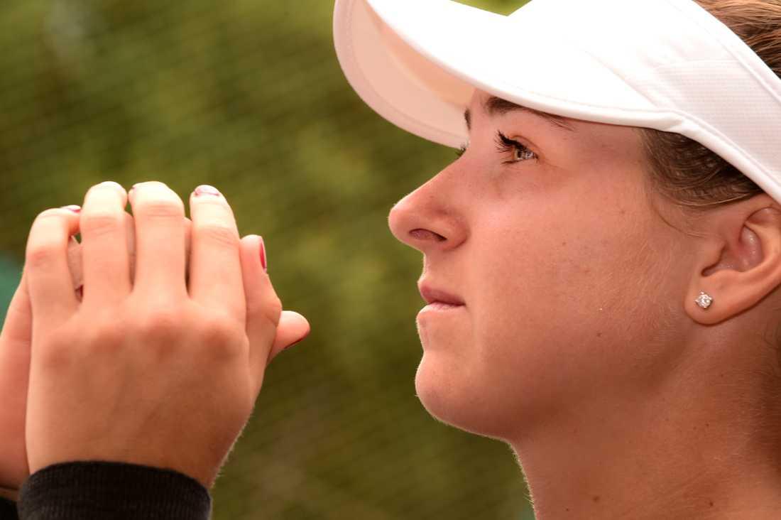 Tennisstjärnan Rebecca Peterson ser fram emot årets sista grand slam-turnering, US Open, i Queens i New York. Bild från tidigare i sommar.