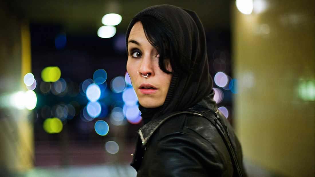Noomi Rapace i rollen som Lisbeth Salander.