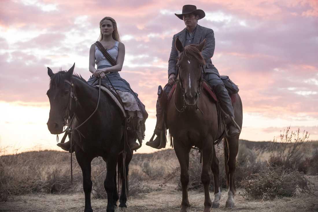 "Evan Rachel Wood och James Marsden i ""Westworld""."