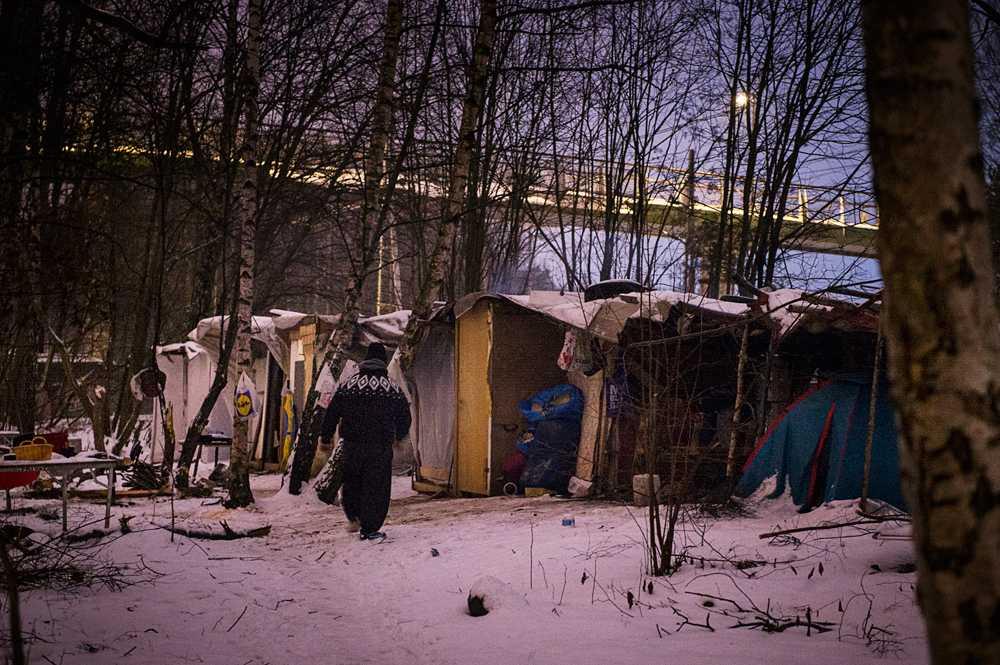 Lägret i Högdalen saknar allt.