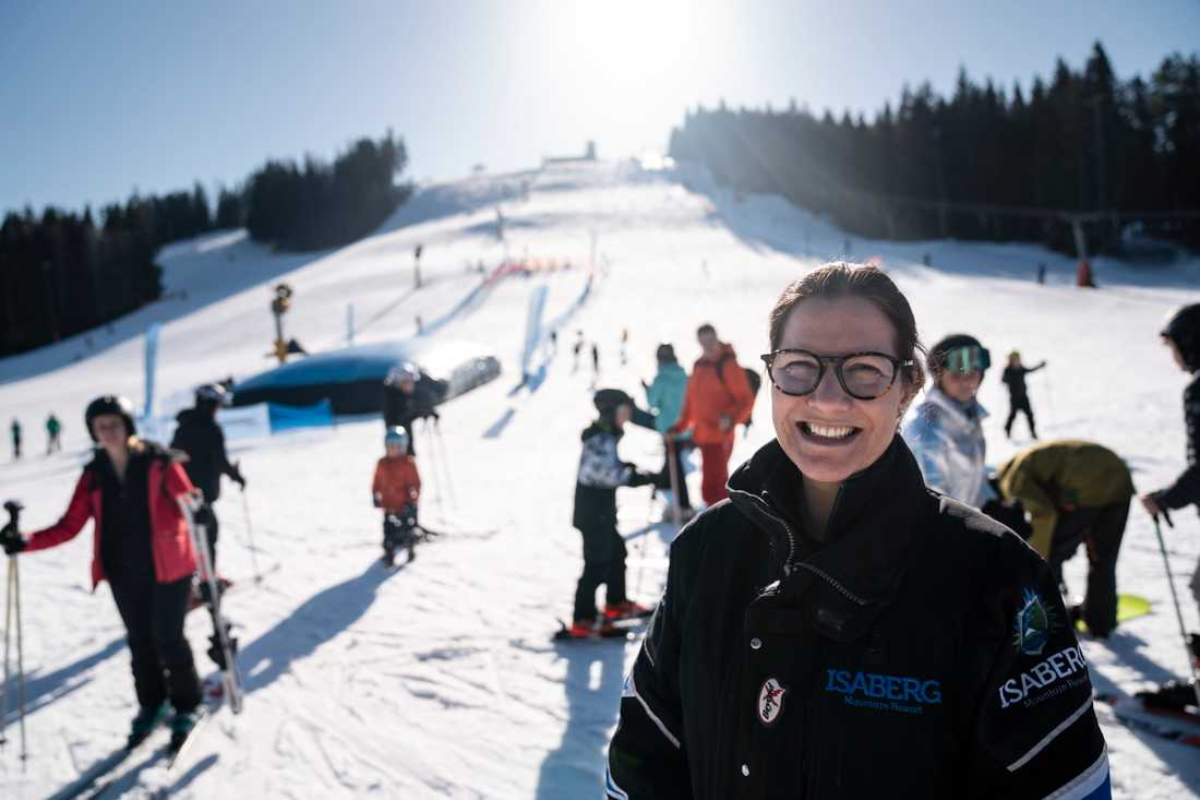 Louise Söderlund, vd för Isaberg Mountain Resort, ser att restriktionerna också medfört positiva effekter.