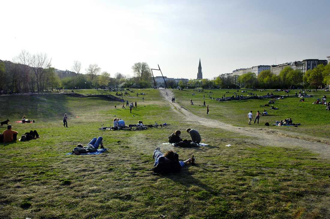 Park i Berlinstadsdelen Kreuzberg