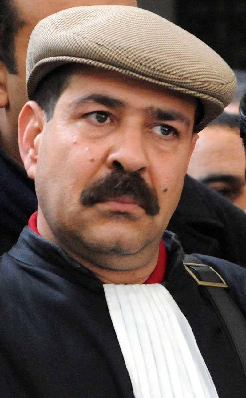 Advokaten och oppositionsledaren Chokri Belaid.