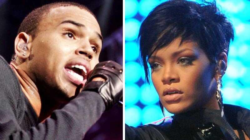 Chris Brown och Rihanna.