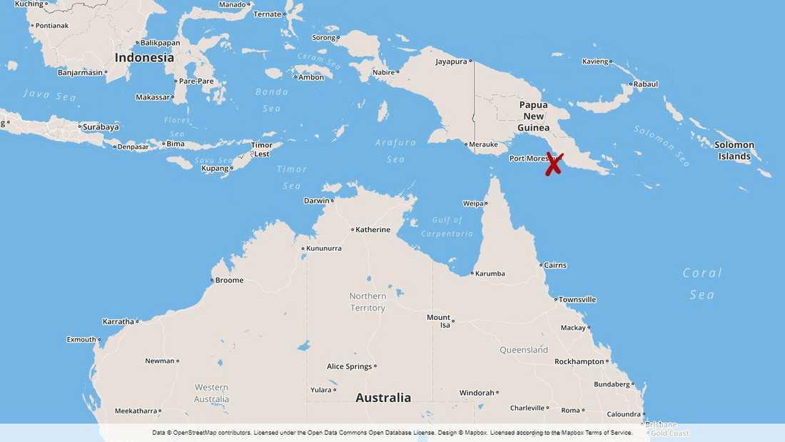 De försvunna bilarna eftersöks nu i Papua Nya Guineas huvudstad Port Moresby.