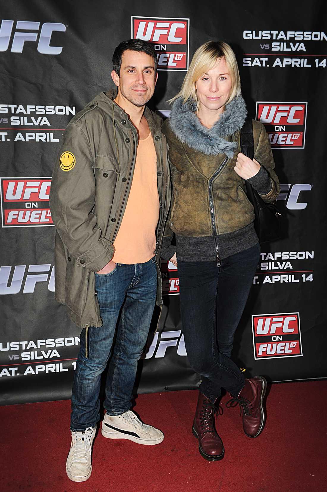 Crafoord och Aliaga på UFC-gala i april i år.