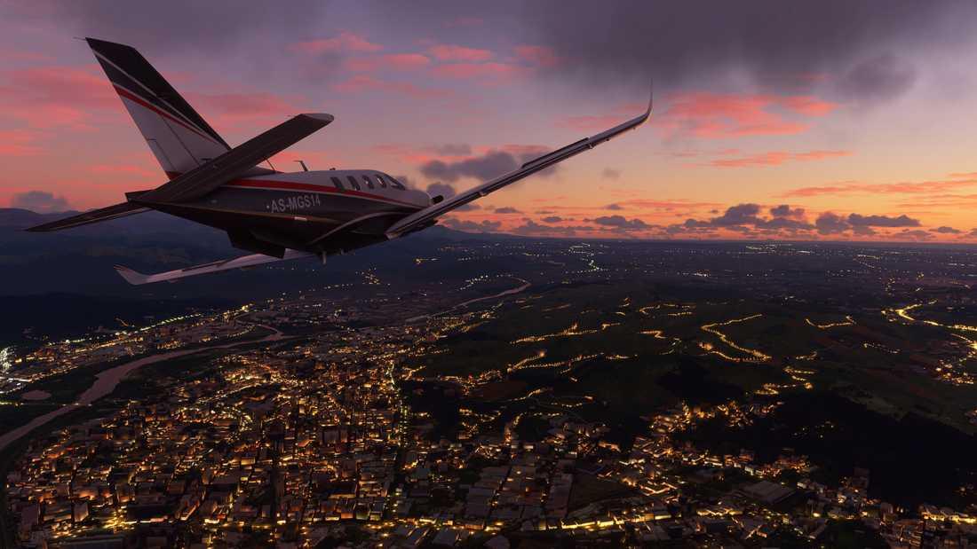 """Skaparna hoppas att nya """"Microsoft flight simulator"""" ska uppdateras de kommande tio åren. Vissa uppdateringar, som de rent geografiska, är tänkta att vara gratis, medan man kan få betala om skaparna lägger till exempelvis helikoptrar. Pressbild."""