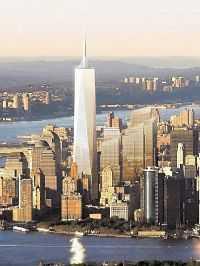 540 meter Freedom Tower ska resa sig ur ruinerna efter World Trade Center på Manhattan.