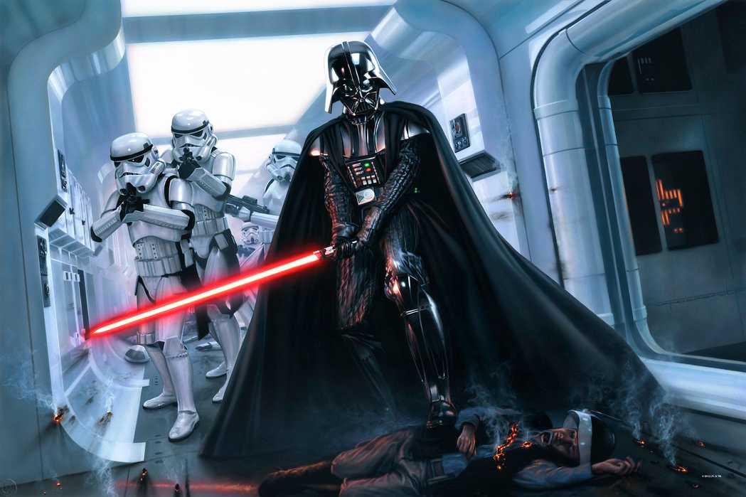 David Prowse som Darth Vader.