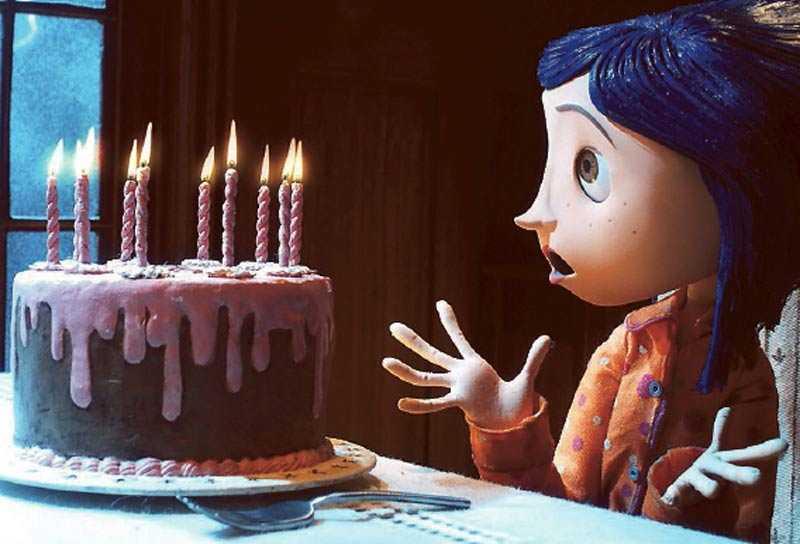 Vad sägs om en grattistårta till Coraline vars film får en praktfull femma?