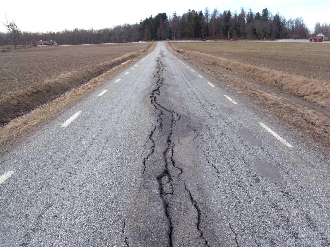 Flera av Sveriges sämsta vägar finns i Norrbotten och Västerbotten. Arkivbild.