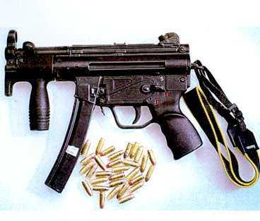 Dessa vapen hittades hemma hos 35-åringen tidigare i år.