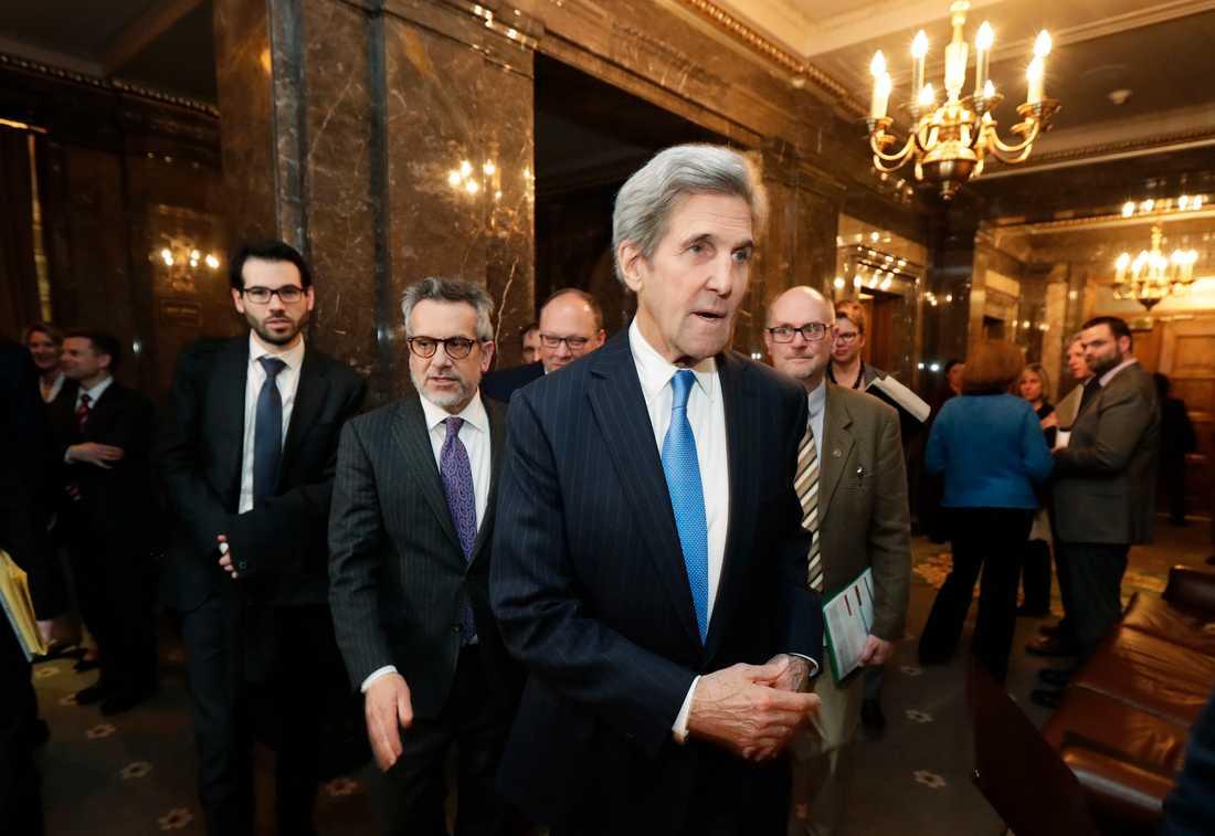 USA:s förre utrikesminister och blivande klimatsändebud John Kerry. Arkivbild.
