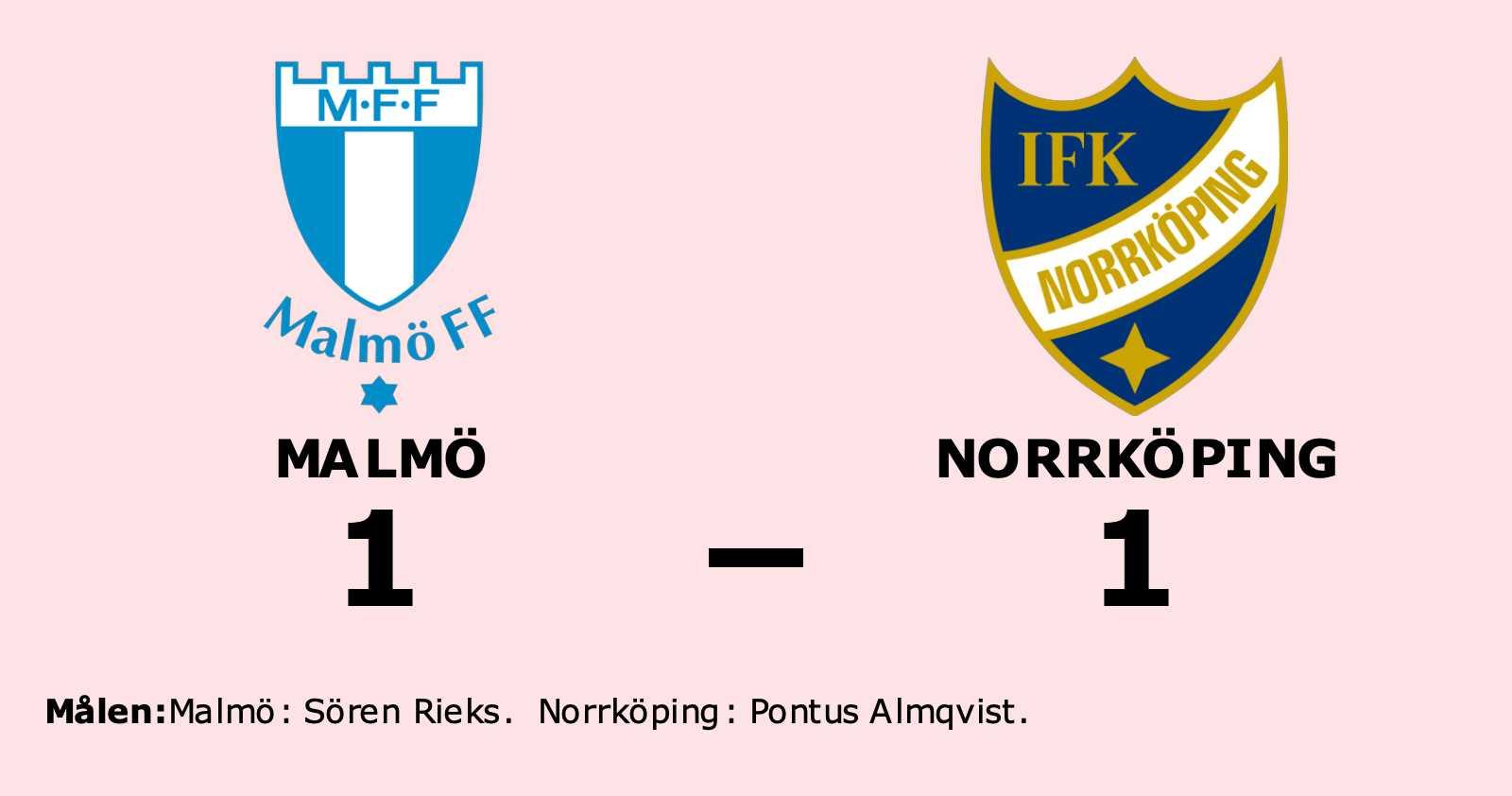 Pontus Almqvist räddade poäng när Norrköping kryssade