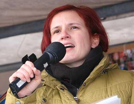 Katja Kipping under ett tal 2010.