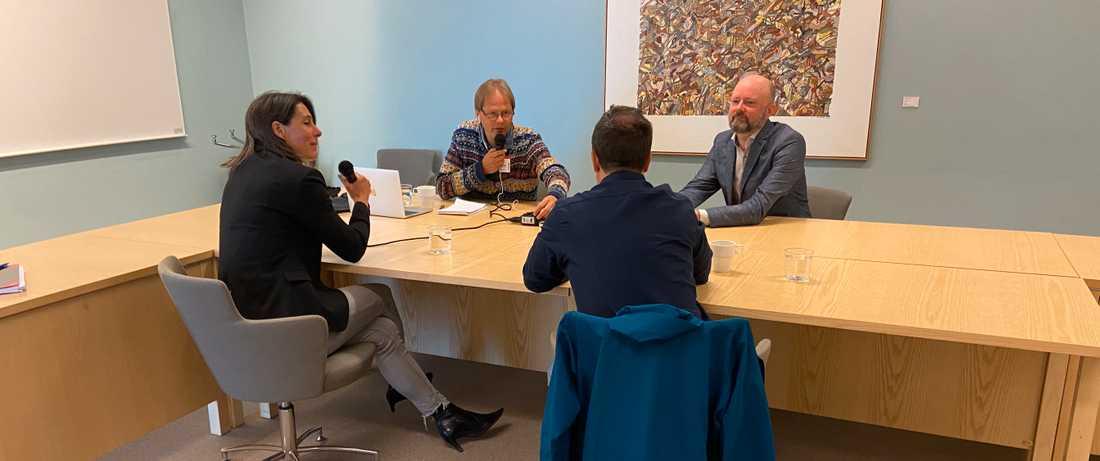 Linda Escar och Kennet Alexandersson, Säpo, intervjuas av Anders Lindberg och Johan Wiktorin.