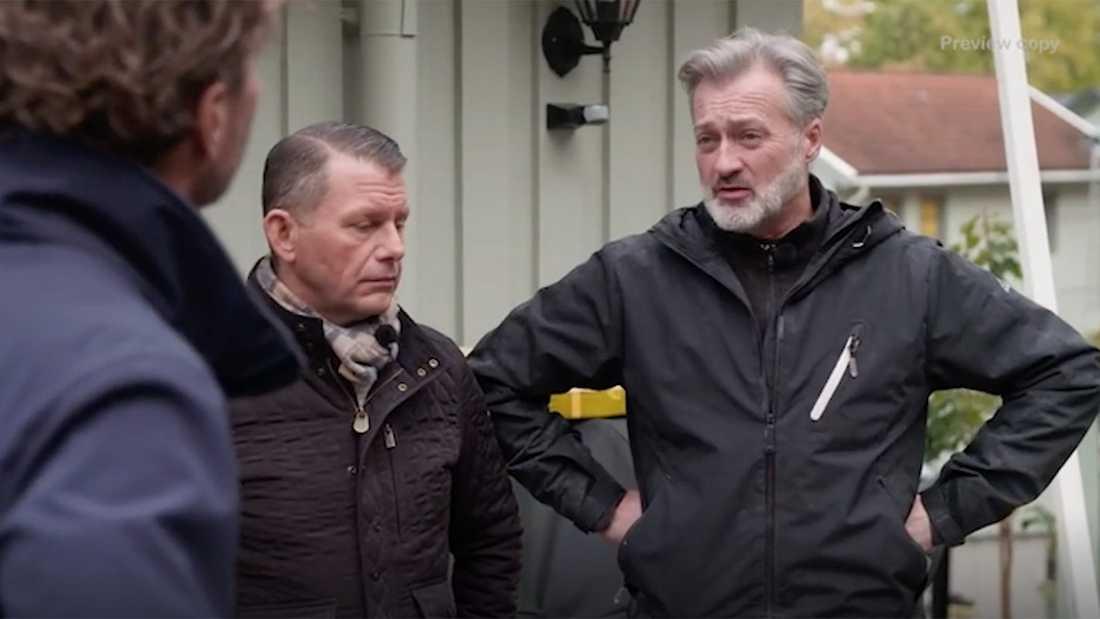 """Tony Irving berättar om tidiga """"Let's dance""""-åren för Anders Öfvergård, i mitten sambon Alexander Sköldsparr."""