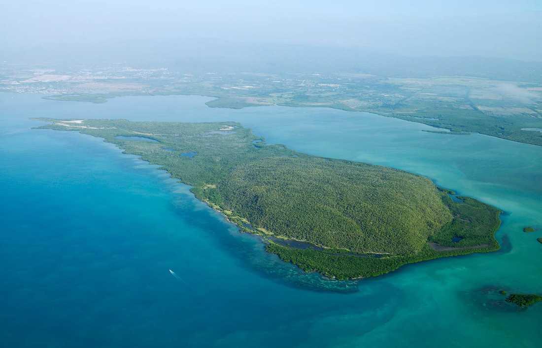 Obebodda Goats islands på södra Jamaica.