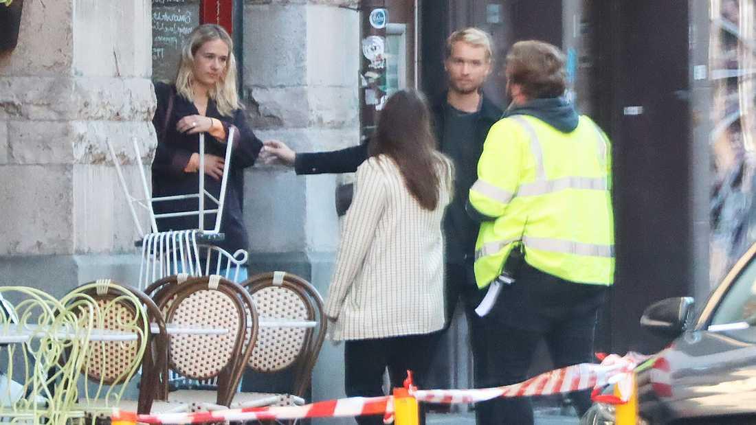 I veckan spelades flera scener in i och utanför en restaurang på Södermalm i Stockholm.