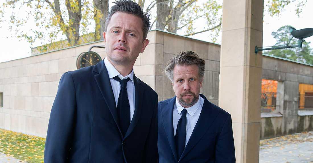 Fredrik Wikingsson och Filip Hammar syntes inte till på Guldbaggegalan.