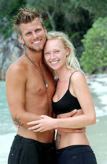 """höll i fem månader Jerry och Isabel blev ett par redan under de första dagarna av inspelningen av """"Expedition Robinson"""" i somras."""