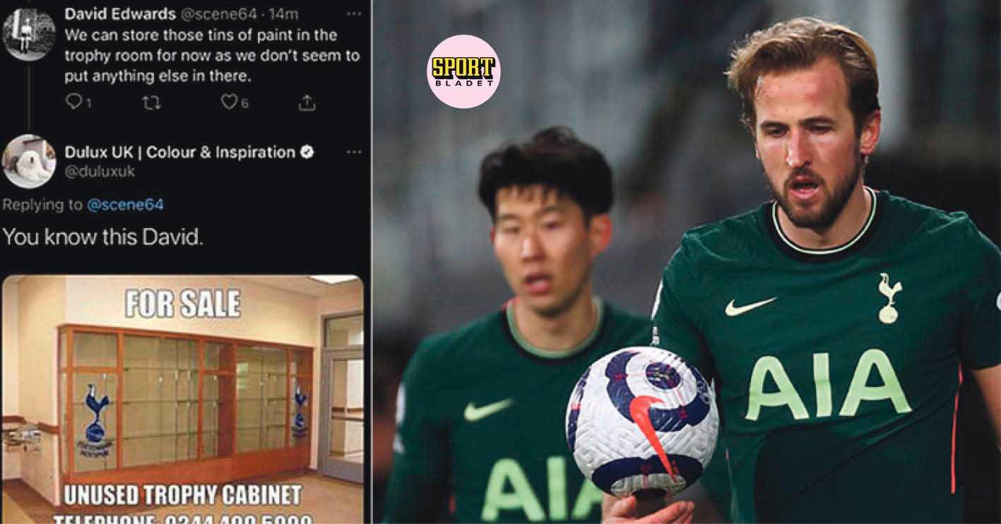 Nya sponsorn drev med Tottenhams titeltorka på twitter
