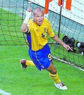 14 juni 2004: EM mot Bulgarien 5–0.