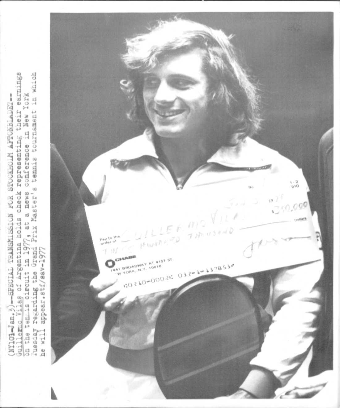 1977, Guillermo Vilas (ARG) Vann över Brian Gottfried (USA) med siffrorna 6-0, 6-3, 6-0.