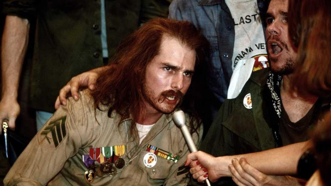 """Tom Cruise i """"Född den fjärde juli"""" (1989)."""