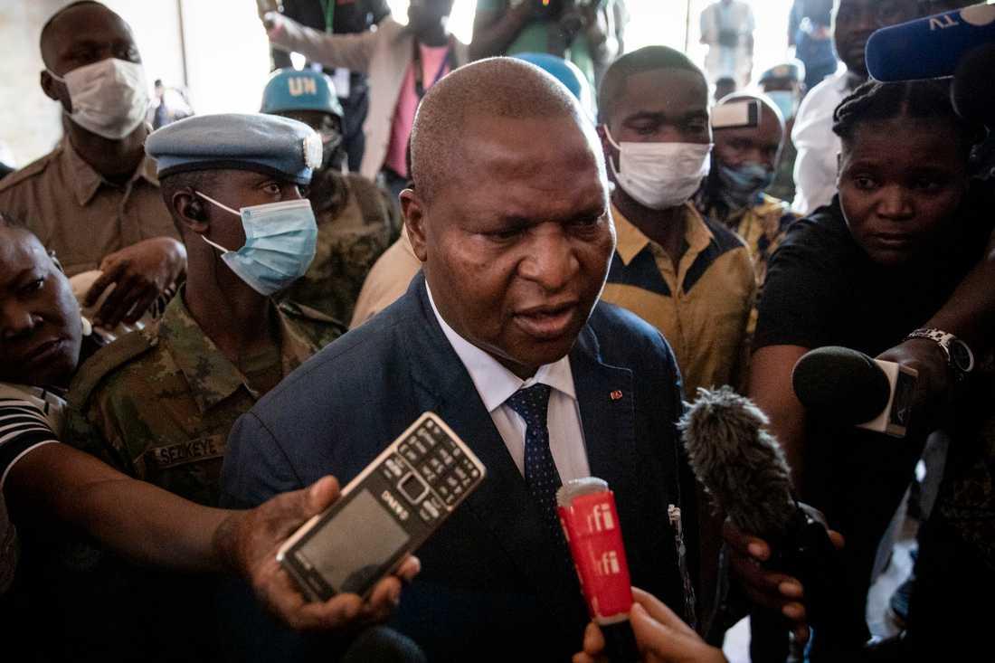 Faustin-Archange Touadéra har blivit omvald som president i Centralafrikanska republiken. Arkivbild