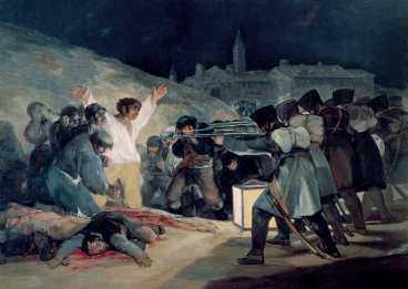 """Goyas """"Den 3 maj 1808"""" ."""